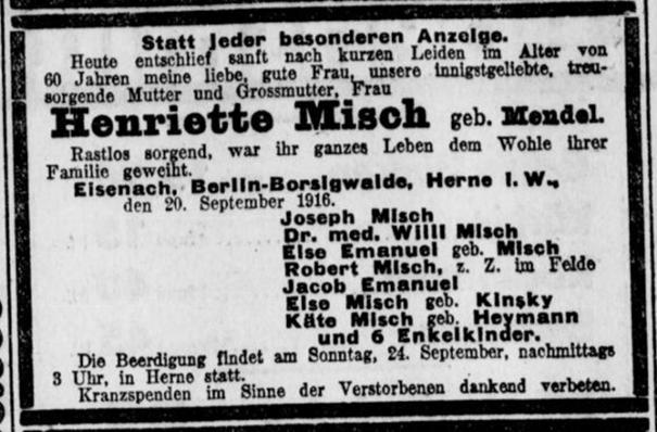 Misch Wilhelm – Spuren im Vest